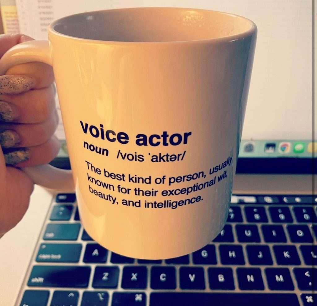 voiceover coffee mug
